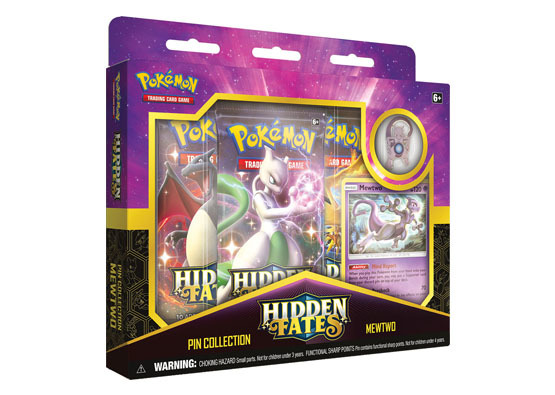 Pokemon TCG: Hidden Fates Pin Collection - Mewtwo