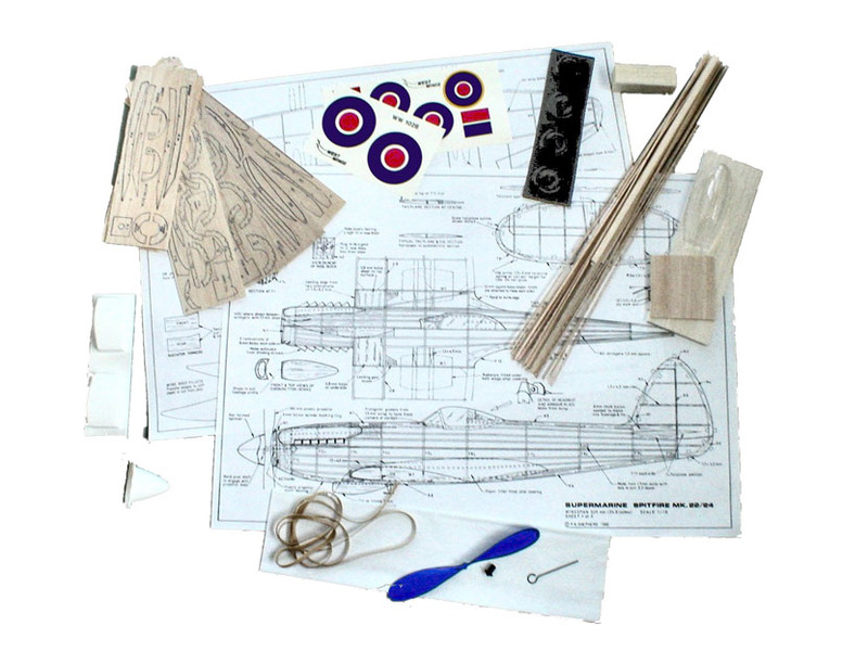 West Wings 1/18 Model Aircraft Kit - Supermarine Spitfire F22/24 (rubber  powered)