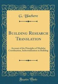 Building Research Translation by G Blachere image