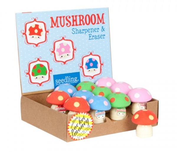 Seedling: Mushroom - Sharpener & Eraser (Assorted Designs)