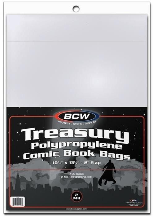 "BCW: Comic Book Bags - Treasury (10.5"" x 13.5"")"