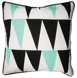 General Eclectic Cushion (Black & Mint Triangles)