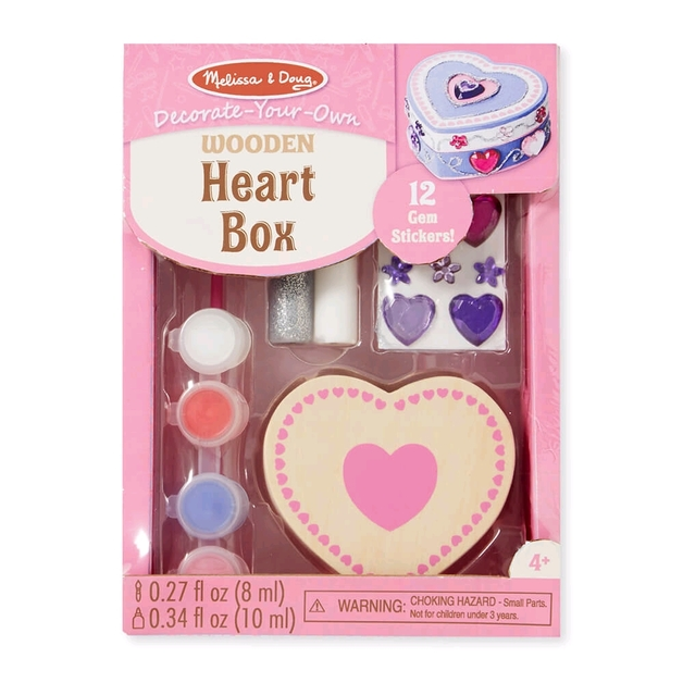 Melissa & Doug: Decorate Your Own - Heart Box