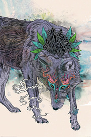 Mat Milller Spirit Wolf Maxi Poster (800)