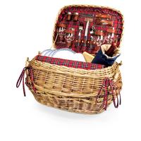Highlander Picnic Basket - Red Tartan