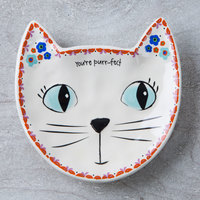 Natural Life: Folk Art Trinket Dish - Cat Purrfect