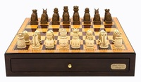 "Dal Rossi: Medieval - 18"" Resin Chess Set (Walnut)"