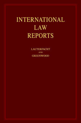 International Law Reports: v. 1-125 image