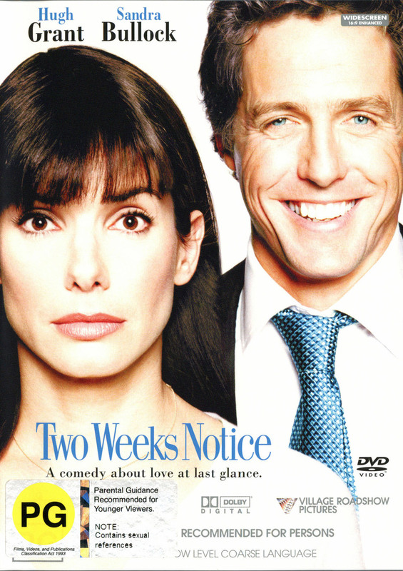 Two Weeks Notice on DVD