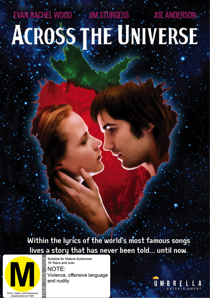 Across The Universe on DVD image