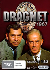 Dragnet: 1967 - Season 1 and 2 (8 Disc Set) on DVD