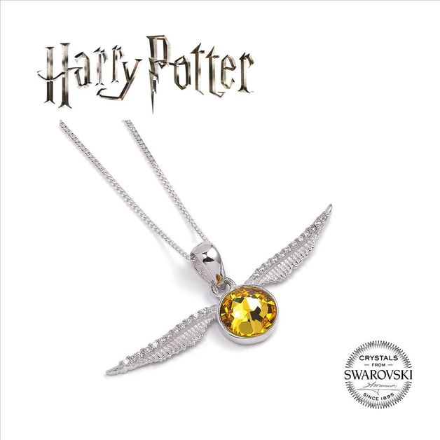 The Carat Shop: Harry Potter Embellished with Swarovski® Crystals Golden Snitch Necklace