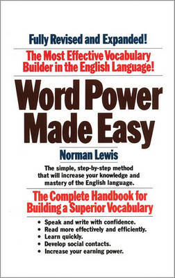 Word Power Made Easy by Norman Lewis image