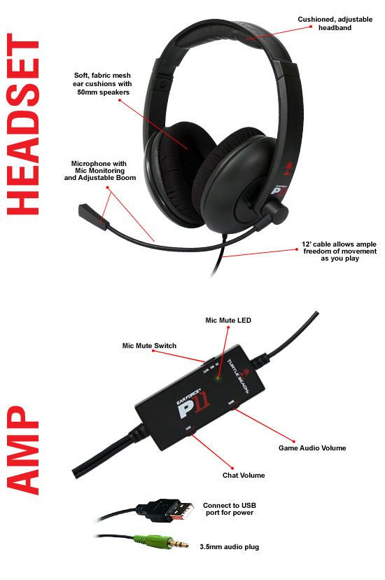 2de1e80ea11 Turtle Beach P11 Gaming Headset (PS3 & PC) | PS3 | Buy Now | at ...