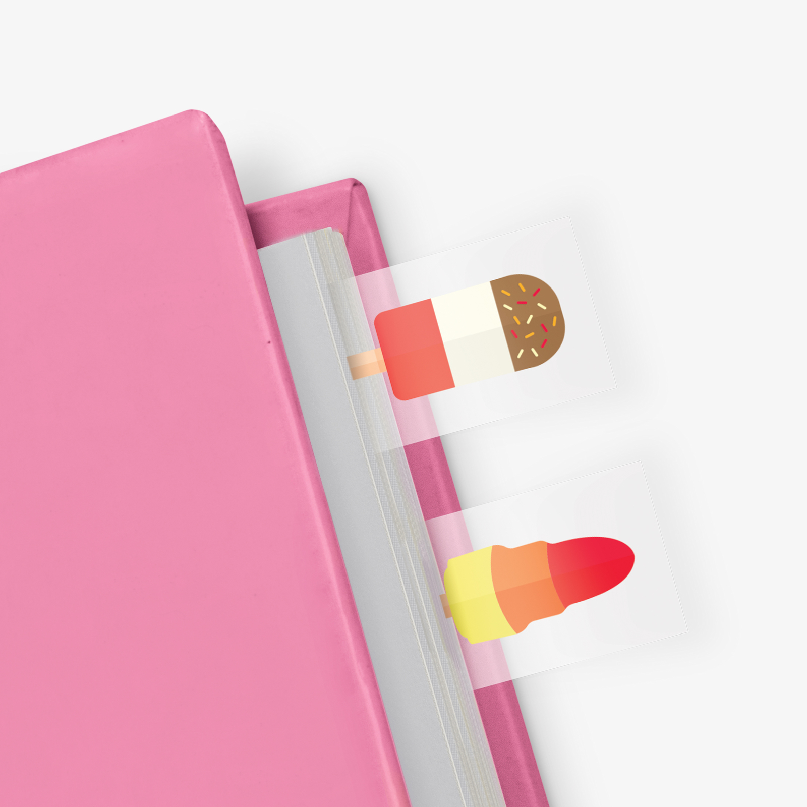 Ice Cream in a Book - Themed Page Markers (100 sheets) image