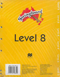 Springboard Level 8A Teacher Pack