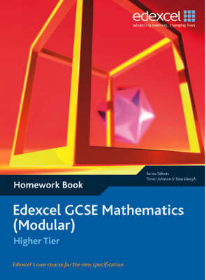 Edexcel GCSE Maths: Modular Higher Homework book by Tony Clough image