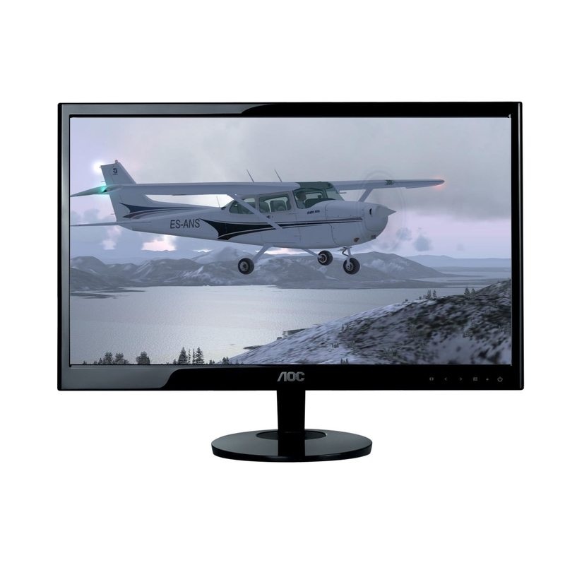 21 5 aoc usb monitor at mighty ape nz. Black Bedroom Furniture Sets. Home Design Ideas