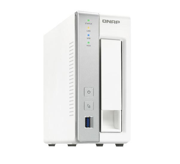 QNAP TS-131P NAS, 1BAY (NO DISK), 1GB, AL-212 DUAL CORE, USB 3.0(3), GbE(1), TWR, 2YR image