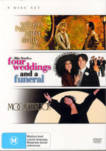 When Harry Met Sally / Four Weddings / Moonstruck (3 Disc Set) on DVD