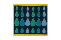 Dona Wilson: Rain Drops Multi Green Facecloth