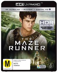 Maze Runner on Blu-ray, UHD Blu-ray, UV