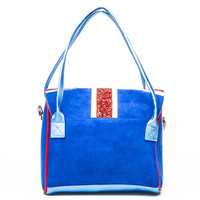 Irregular Choice: Big Ben Chimes Handbag - Royal Blue