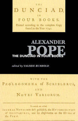 Dunciad: In Four Books by Alexander Pope image