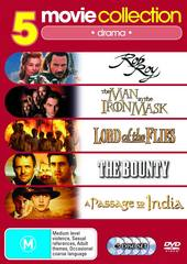 5 Movie Collection: Drama Rob Roy/Man In The Iron Mask/ Lord Of The Flies/Bounty/ Passage To India on DVD