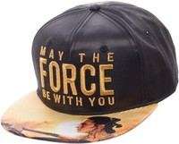 Star Wars: May The Force - Metallic Embroidered Satin Snapback Cap