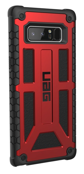 UAG Monarch Case for Galaxy Note 8 (Crimson/Black)