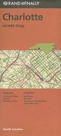 Folded Map Charlotte Streets NC by Rand McNally
