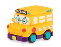 Battat: B. Mini: Pull-Back Vehicle - School Bus
