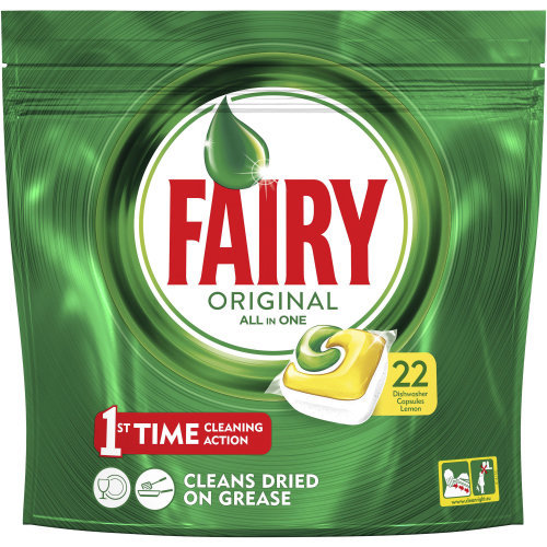 Fairy All In One Dishwasher Tablets (Lemon)
