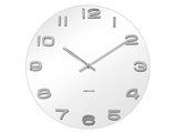 Karlsson Vintage White Glass Wall Clock