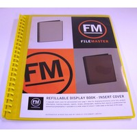 FM A4 Insert Cover Refillable Display Book - Yellow