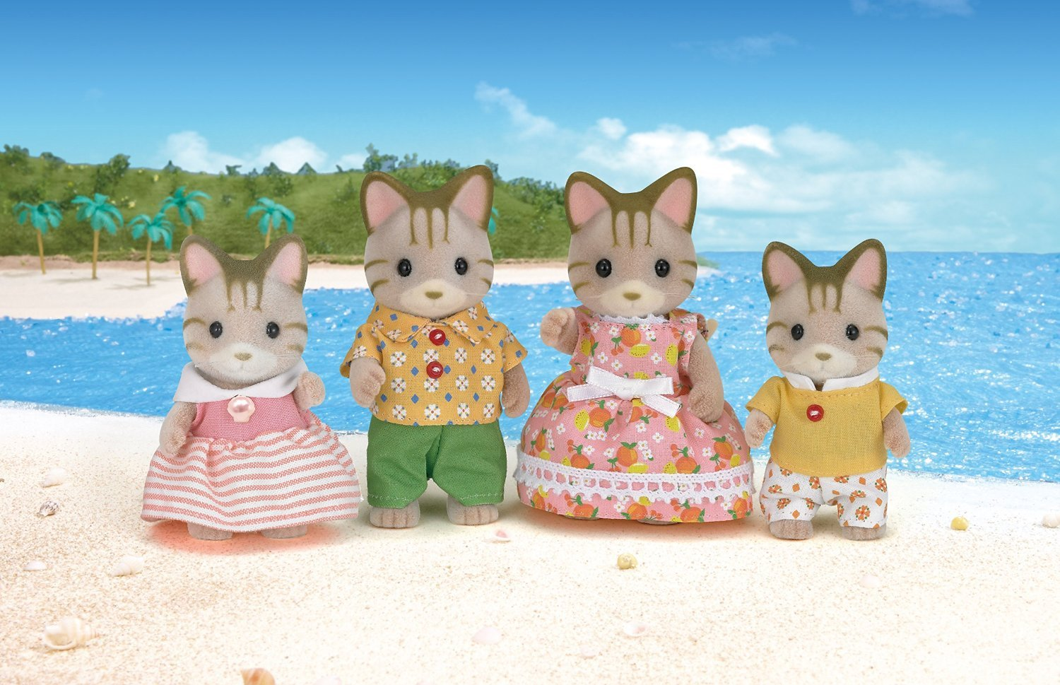 Sylvanian Families: Striped Cat Family image