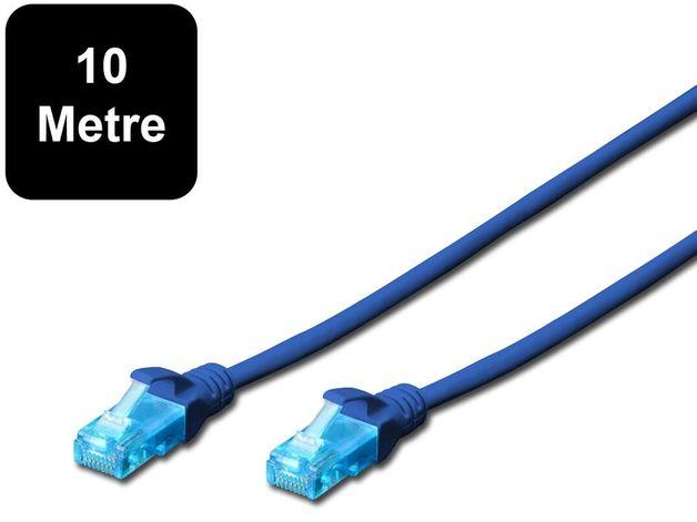 10m Digitus UTP Cat5e Network Cable - Blue