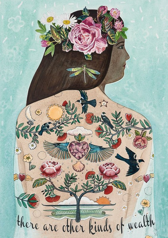 Jane Galloway: There Are Other Kinds Of Wealth - Greeting Cards