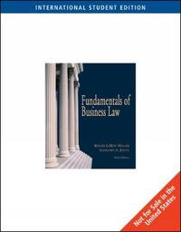 Fundamentals of Business Law with Online Research Guide, International Edition by Roger Miller image