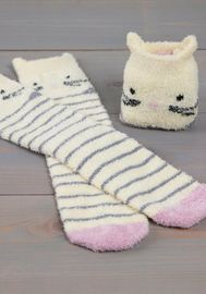 Natural Life: Cozy Critter Socks - Cat