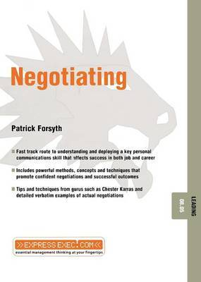 Negotiating by Patrick Forsyth image
