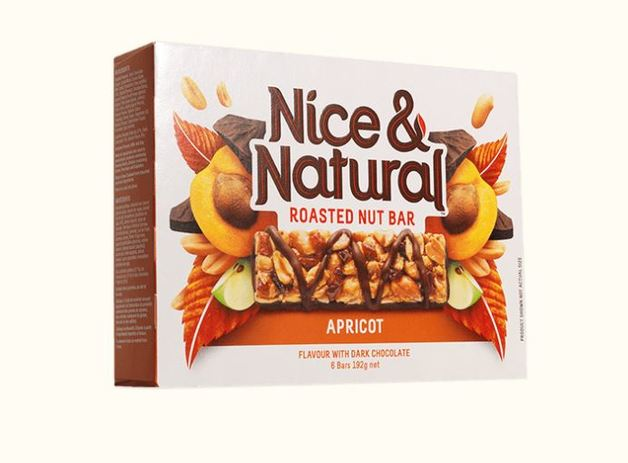 Nice & Natural Roasted Nut Bar - Apricot (192g)