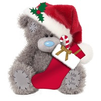 Me To You Christmas - Bear Holding Stocking