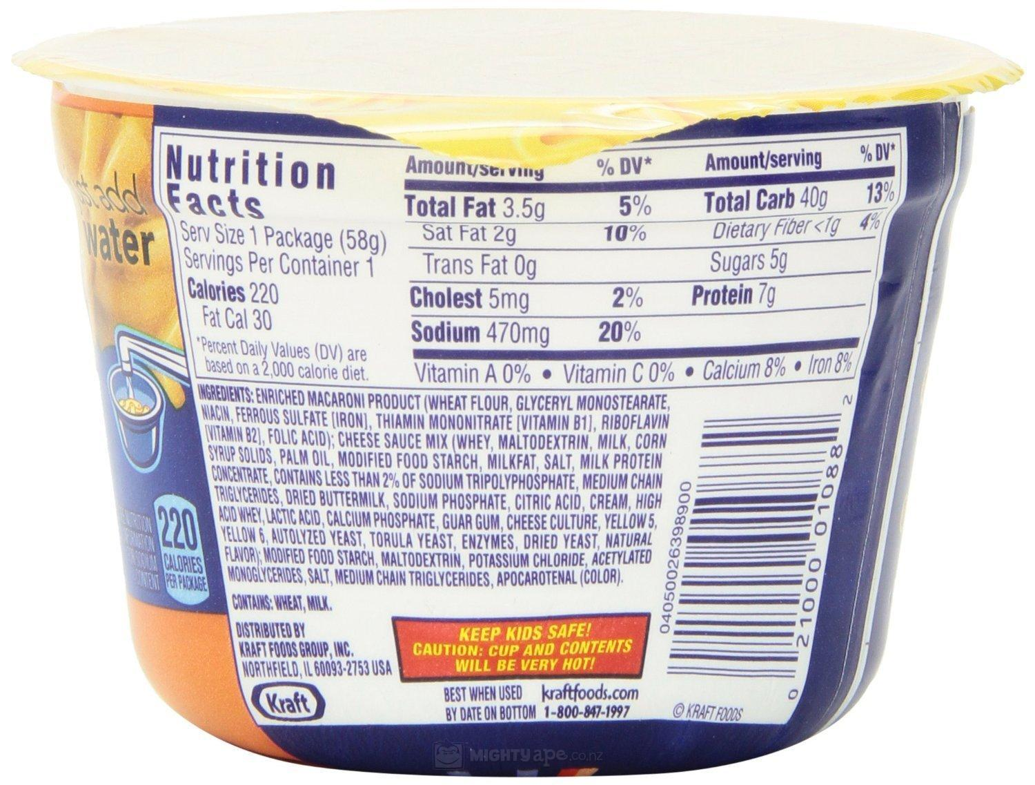 Kraft Easy Mac Cups Triple Cheese 58g X10 At Mighty Ape Nz