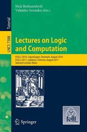 Lectures on Logic and Computation