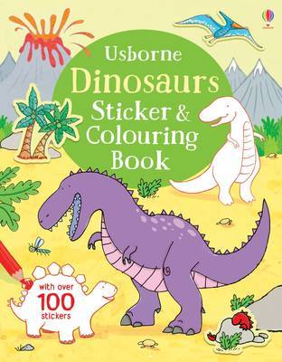 Dinosaurs Sticker & Colouring Book by Sam Taplin image
