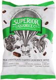 Superior Liquorice Milk Chocolate Liquorice Bites