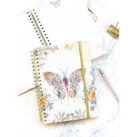 Papaya: Small Notebook - Paisley Butterfly