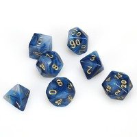 Chessex: Phantom Polyhedral Dice Set - Teal/Gold